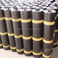 Roofing materials 4mm asphalt PE film SBS/APP waterproof membrane
