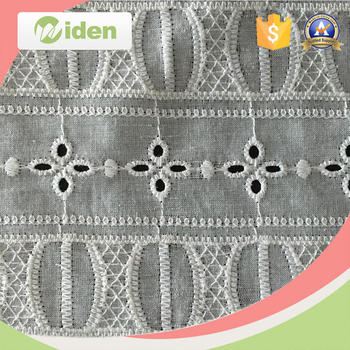 Wholesale Egyptian Cotton Eyele Embroidery Lace