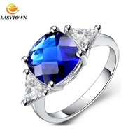 Christmas catalogs 2016 latest 18k white gold plated gemstone ring designs for women