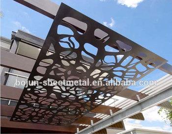 Outdoor decorative screens decorative metal panels exterior steel ...