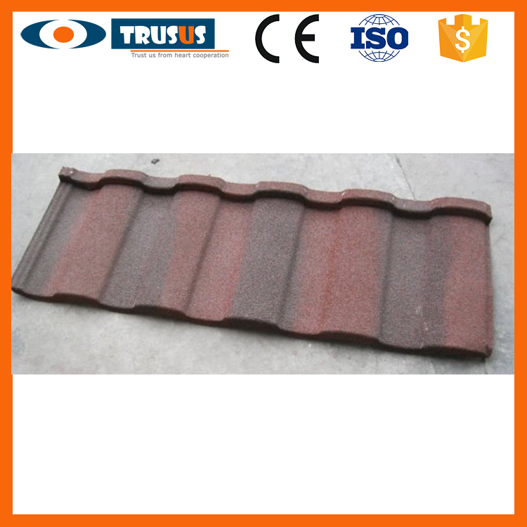 High Quality Building Materials Environment Friendly Flat Stone Coated Roof Tiles