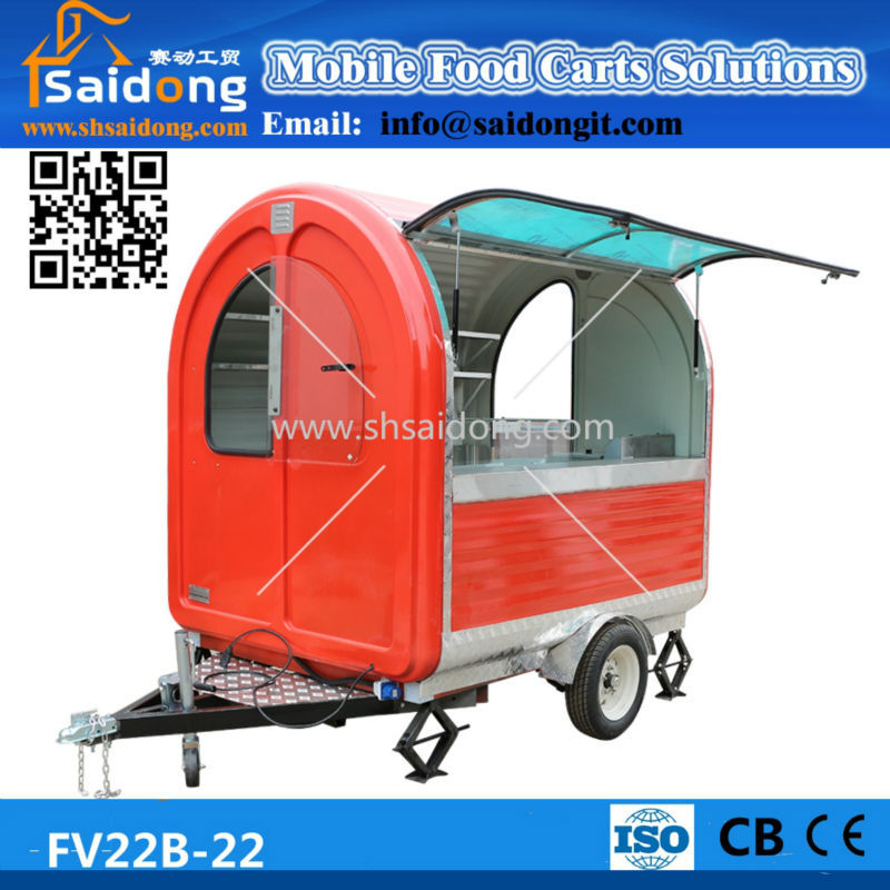 Food Application and New Condition Motor tricycle mobile food cart