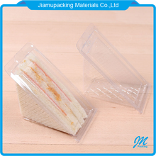 Transparent disposable plastic triangle cake sandwich blister clamshell container packaging box