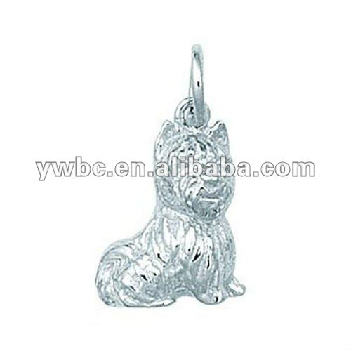 fashion alloy silver plated westie dog pendant(H101512)