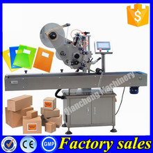 Economic and Reliable flat surface labelling machine for plastic bag