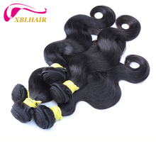 XBL natural color body wave brazilian virgin hair wholesale 50 inch human hair