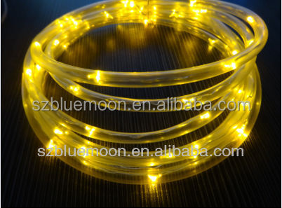 1.5m/30leds yellow waterproof pvc tube led string light outdoor use string light