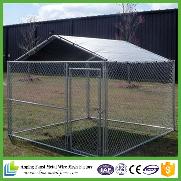 2.3 x2.3 x 1.2m Pet Dog Enclosure Run Kennel Chain Link Fence with roof