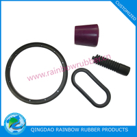 Molded rubber component for equipment