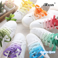 Customized Rainbow Fresh Gradient Flat Tie Dye Shoelaces~Pure Gradient Laces~Flat Tubular Shoe Laces~eBay/Amazon Supplier