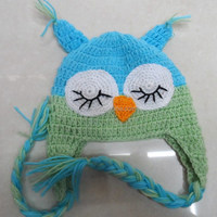 Wholesale Colorful Free Crochet Owl Hat Pattern Baby Boy Handmade Hat