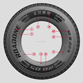 High performance 1000r20 ROADONE truck tire