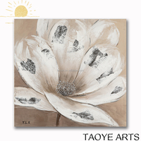 Single white fabric flower painting designs