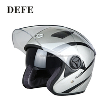Top quality silver gray motorcycle protection helmet half face helmet for adult
