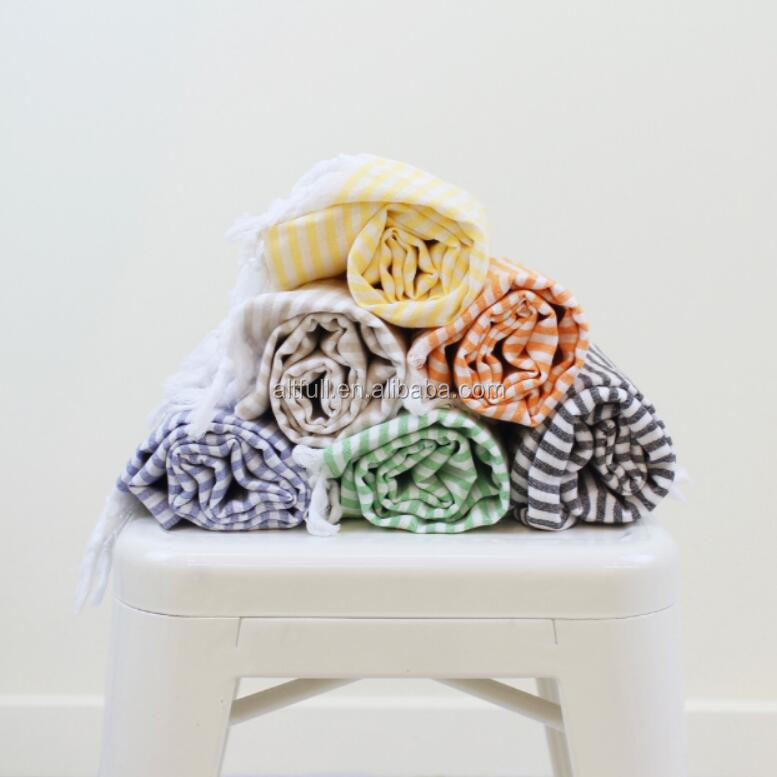 China supplier Luxury turkish bath towel,hamman towel with tassels