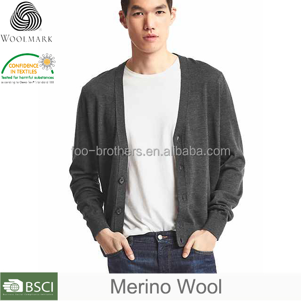 Men cashmere cardigan wholesale, fashion mens cardigan sweaters