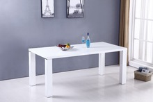 white wooden high gloss modern dining table,dining room furniture