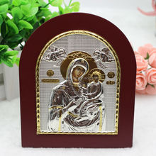 Virgin Mary Quick Listening Silver Icon