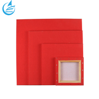 Red Canvas Board Cotton Material Paint Modern Canvas Art
