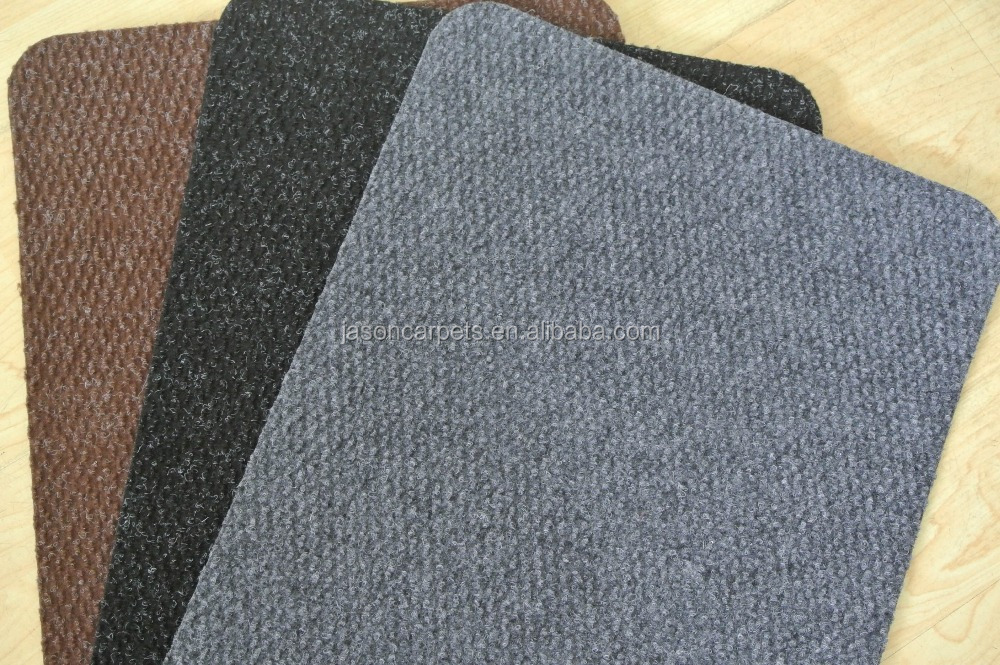 polyester car mat with dot surface and embossed back