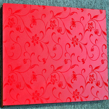 3D red embossed surface laminate mesin hpl sheet