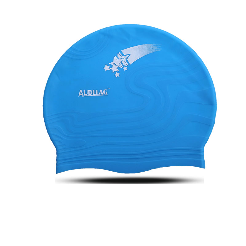 2016 newest custom boys / girls blue swim hat nylon swim cap(FB-03)