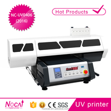 Best service and China factory supply Nuocai 45cm*60cm single head uv flat bed printer for small business