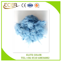 100% polyester material sky blue Color dope dyed polyester staple fiber for spinning or non-woven fabric use PSF