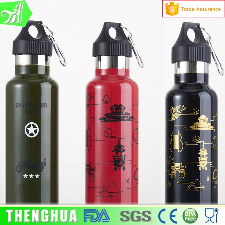 Field Survival Training <strong>Sports</strong> Stainless Steel Water Bottle