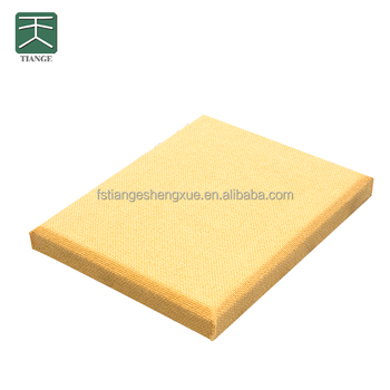 Soundproofing And Decorative Leather Fibreglass Insulation For Ceiling Treatment