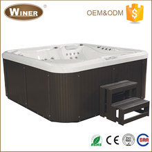 2016 European Style indoor outdoor 5 person freestanding acrylic whirlpool massage hot tub balboa spa prices