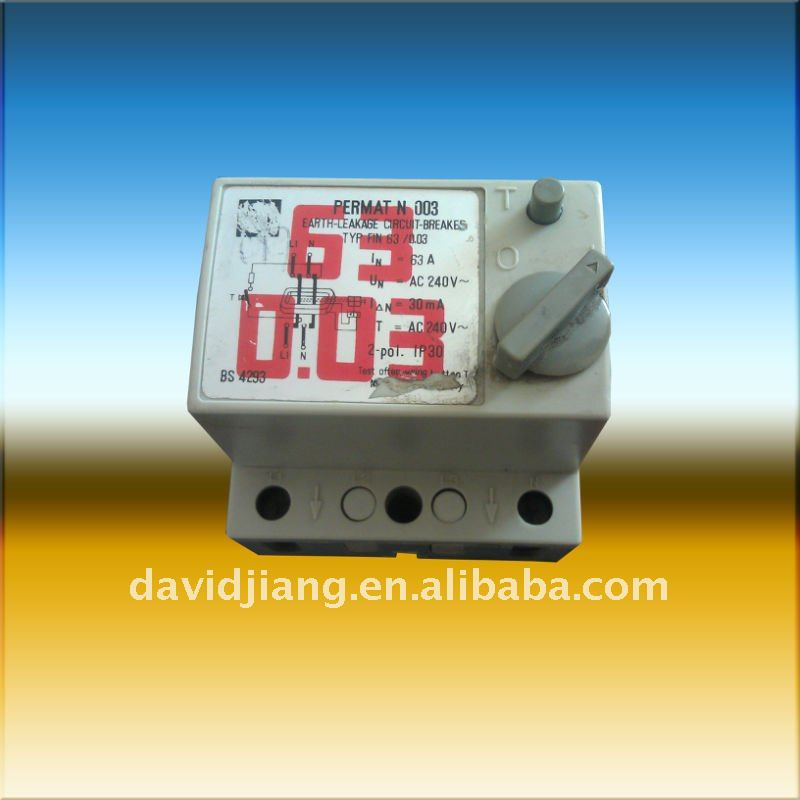 FIN(F&G) EARTH LEAKAGE CIRCUIT BREAKER/ELCB