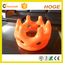 Orange colour inflatable PVC Crown for kids