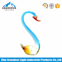 Colored Murano Art Glass Swan Craft