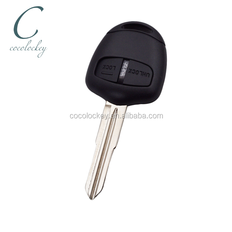 Cocolockey Remote Key Control 2 Button shell for <strong>Mitsubishi</strong> <strong>L200</strong> Shogun Pajero Montero Right blade