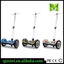 10 inch 2 wheel smart self balancing electric scooter with handle bar