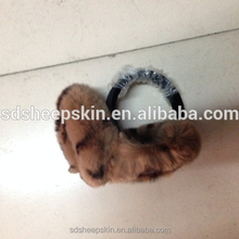 Rabbit Fur Plush Ear Warmer Muff