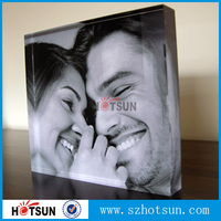 Custom 2015 new style clear Lucite Plastic Acrylic 2x2 Picture Photo Frame