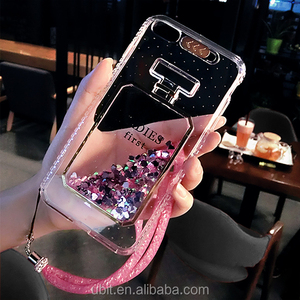 Fashion Liquid Quicksand Perfume Bottle Silicone Phone Case