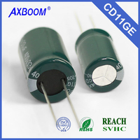 wide operating temperature -40~125 Aluminum electrolytic capacitors type ISO 9001 special for electronic ballast