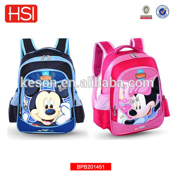 big capacity stylish hot selling high quality mickey mouse school bag