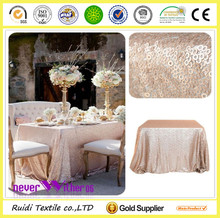 round gold sequin tablecloth/cover for wedding /even /party/banquet
