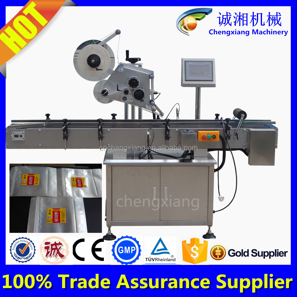 High-speed automatic labeling machine price,plastic bag labeling machine