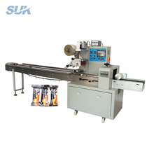 Horizontal meat floss bread packaging machine