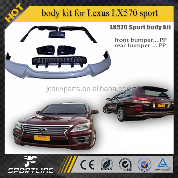 PP body kits fit for LEXUS LX570 sport edition