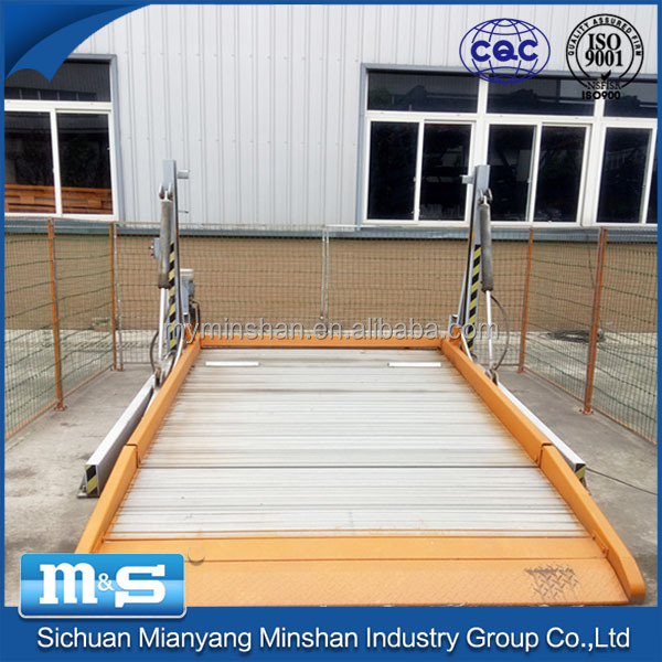 Minshan automatic stable two post outdoor used car lift parking system