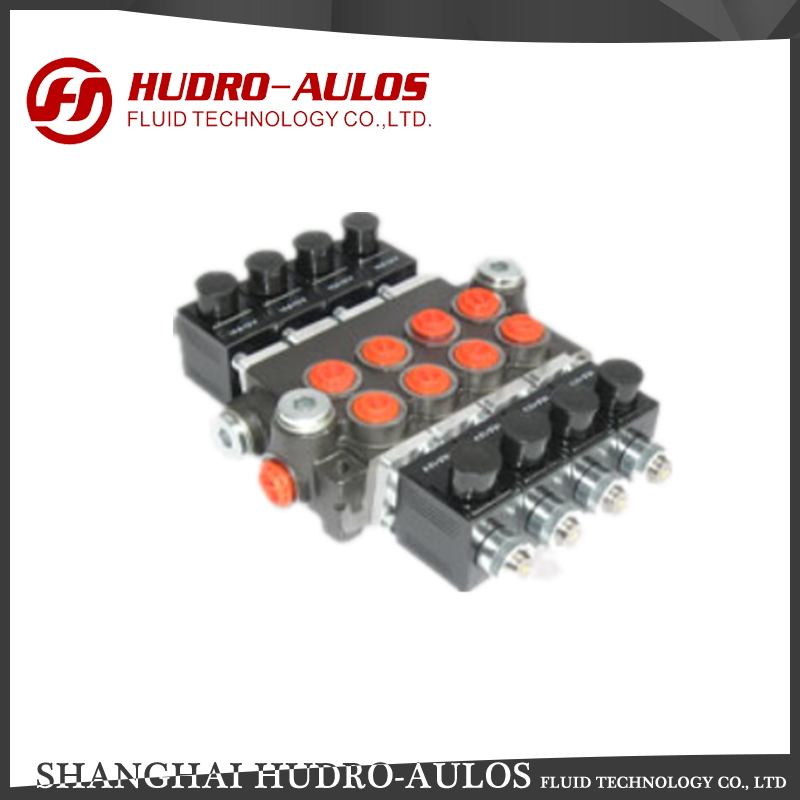 New design Z50 series solenoid operated 4 working section monoblock directional control valves