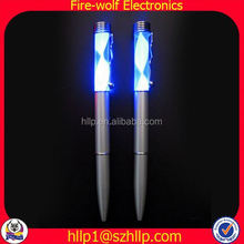 Custom logo printing led writing pen