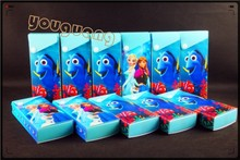 pp material cartoon pencil box colorful plastic pencil case packaging box with button