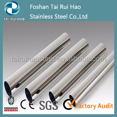 Prime material 316l stainless steel seamless pipe /round tube for construction